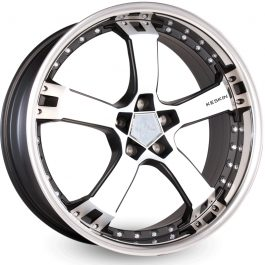 Keskin-Tuning KT10 Matt Black Front Polish Steel Lip 9.5×18 ET: 40 – 5×112