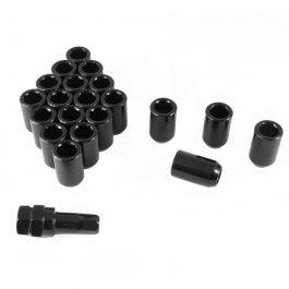 Set of BLACK imbus lug nuts 12×1,25 + Key