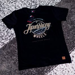 JR Men T-Shirt Rolling Black Size XL