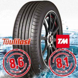 Nankang Sportnex AS-2+ TM- ja Tuulilasi-testimenestys 285/25-20
