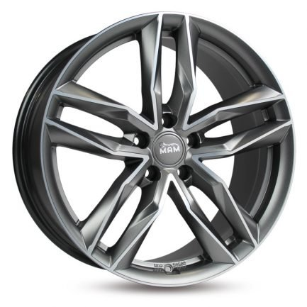 MAM RS3 Matt Palladium Front Polish 8x18 ET: 30 - 5x112