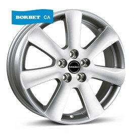 Borbet CA crystal silver 6.5×15 ET: 40 – 5×108