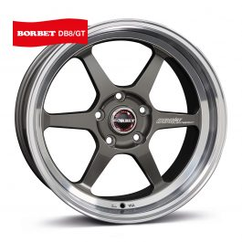 Borbet DB8GT graphite rim polished 9.5×18 ET: 30 – 5×100