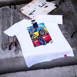 JR Men T-Shirt MIX-2 White Size S
