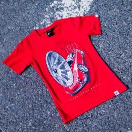 JR Women T-Shirt JR-11 Car Red Size XL