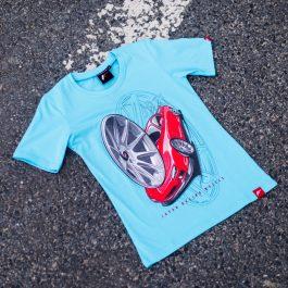 JR Women T-Shirt JR-11 Car Turquoise Size M