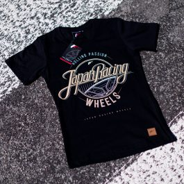 JR Women T-Shirt Rolling Black Size L