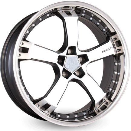 Keskin-Tuning KT10 Matt Black Front Polish Steel Lip 10x22 ET: 40 - 5x120
