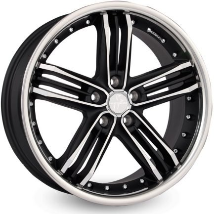 Keskin-Tuning KT11 Matt Black Front Polish Steel Lip 9.5x18 ET: 45 - 5x112