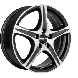 Ronal R56 MATT BLACK FACE-CUT 6.0×15 ET: 25 – 4×108