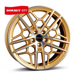 Borbet GTY gold polished matt 8.5×19 ET: 45 – 5×112
