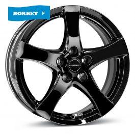 Borbet F black glossy 7×17 ET: 50 – 5×108