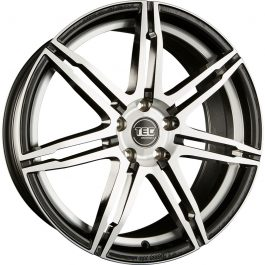 TEC Speedwheels GT2 Black polished CB: 72.6 7.5×17 ET: 35 – 5×120
