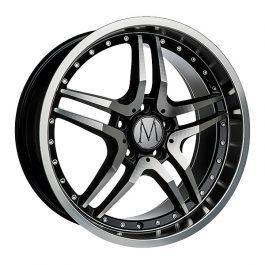 Melchior GT Black Polished Chrome Rivets 8×18 ET: 35 – 5×112