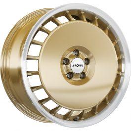 Ronal R50 AERO RACING GOLD RIM-CUT 7.5×16 ET: 38 – 5×100