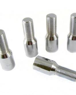 Set of 20 Short SILVER star bolts 14×1,5 + Key