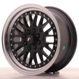 JR Wheels JR10 15×7 ET30 4×100/108 Matt Black w/Machined Lip