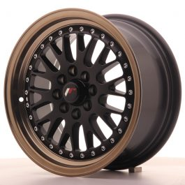 JR Wheels JR10 15×7 ET30 4×100/108 Matt Black w/Anodized Bronze Lip