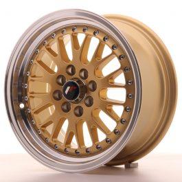 JR Wheels JR10 15×7 ET30 4×100/108 Gold w/Machined Lip