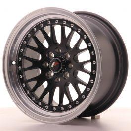 JR Wheels JR10 15×8 ET20 4×100/108 Matt Black w/Machined Lip
