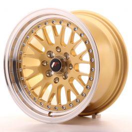 JR Wheels JR10 15×8 ET20 4×100/108 Gold w/Machined Lip