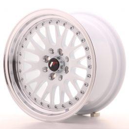 JR Wheels JR10 15×8 ET20 4×100/108 White w/Machined Lip