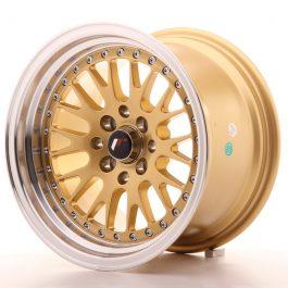 JR Wheels JR10 15×9 ET10 4×100/114 Gold w/Machined Lip