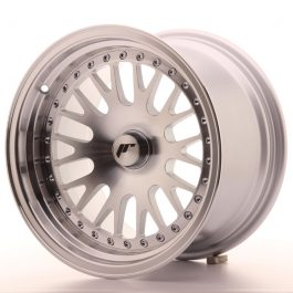 JR Wheels JR10 15×9 ET0-20 BLANK Silver Machined Face