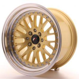 JR Wheels JR10 16×9 ET10 4×100/114 Gold w/Machined Lip
