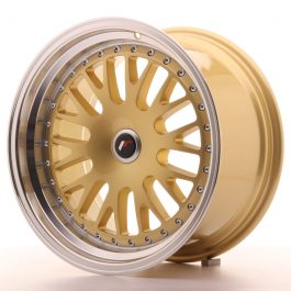 JR Wheels JR10 17×9 ET25-30 BLANK Gold w/Machined Lip