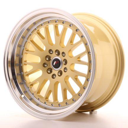 JAPAN RACING JR Wheels JR10 18x10,5 ET25 5x112/114,3 Gold w/Machined Lip 10.50x18