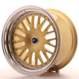 JR Wheels JR10 19×11 ET15-30 BLANK Gold w/Machined Lip
