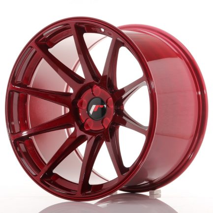 JAPAN RACING JR Wheels JR11 19x11 ET25 5H BLANK Platinum Red 11.00x19