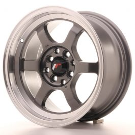 JR Wheels JR12 15×7,5 ET26 4×100/108 Gun Metal w/Machined Lip