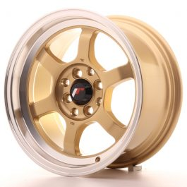 JR Wheels JR12 15×7,5 ET26 4×100/114 Gold w/Machined Lip
