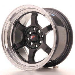 JR Wheels JR12 15×8,5 ET13 4×100/114 Gloss Black w/Machined Lip