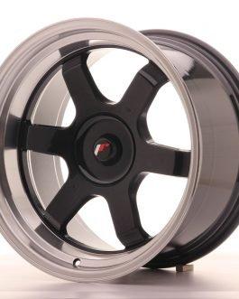JR Wheels JR12 18×10 ET20-22 BLANK Gloss Black w/Machined Lip