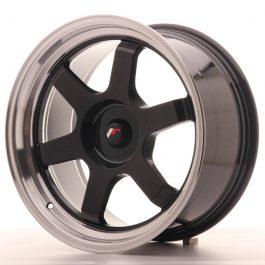 JR Wheels JR12 18×9 ET25-27 BLANK Gloss Black w/Machined Lip