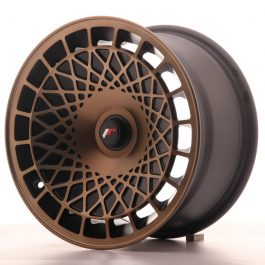 JR Wheels JR14 15×8 ET20-25 BLANK Matt Black w/Bronze Finish