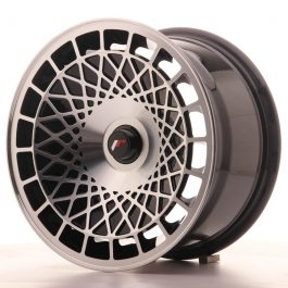 JR Wheels JR14 15×8 ET20-25 BLANK Gloss Black w/Machined Face