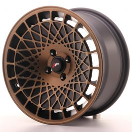 JR Wheels JR14 16×8 ET15 4×100 Matt Black w/Bronze Finish