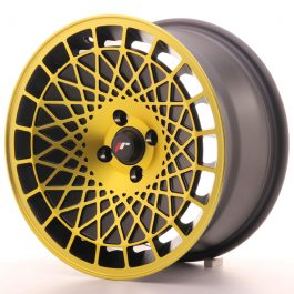 JR Wheels JR14 16×8 ET25 4×100 Matt Black w/Gold Finish