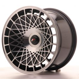 JR Wheels JR14 16×9 ET10-25 BLANK Gloss Black w/Machined Face