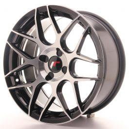JR Wheels JR18 17×8 ET25-35 4H BLANK Gloss Black Machined Face