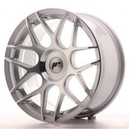 JR Wheels JR18 17×8 ET25-35 BLANK Silver Machined Face
