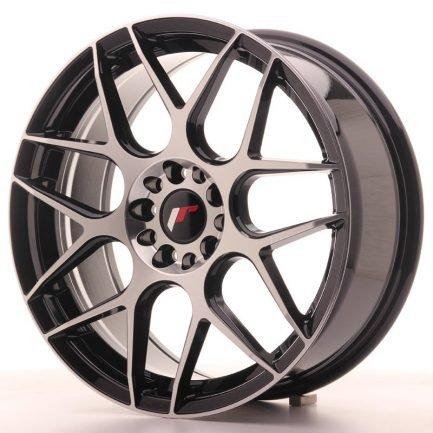JAPAN RACING JR Wheels JR18 18x7,5 ET40 5x112/114 Gloss Black Machined Face 7.50x18