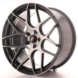 JR Wheels JR18 20×10 ET20-45 5H BLANK Gloss Black Machined Face