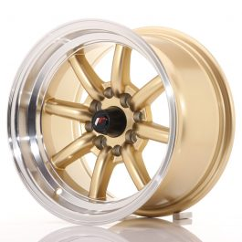 JR Wheels JR19 14×8 ET-13 4×100/114 Gold w/Machined Lip