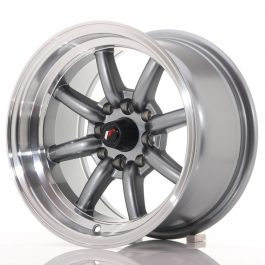 JR Wheels JR19 14×8 ET-13 4×100/114 Gun Metal w/Machined Lip