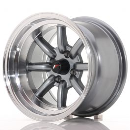 JR Wheels JR19 14×9 ET-25 4×100 Gun Metal w/Machined Lip